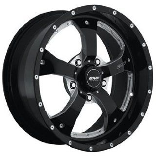 BMF Novakane 17 Black Wheel / Rim 5x4.5 with a  12mm Offset and a 73 Hub Bore. Partnumber 461B 790511412 Automotive