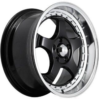 Konig SSM 18 Black Wheel / Rim 5x4.5 with a 15mm Offset and a 73.10 Hub Bore. Partnumber SS08514155 Automotive