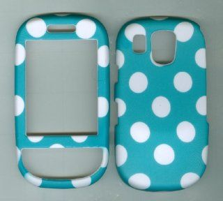 Turquoise Polka Dot Rubberized Plastic Phone Case Cover Protector for Samsung Cell Phones & Accessories
