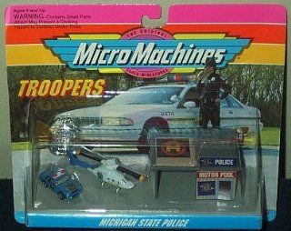 Michigan State Police Micro Machines Troopers Set #2 Toys & Games