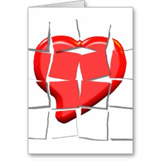 Broken Heart Puzzle Greeting Card