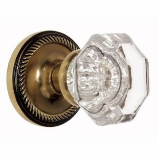 Nostalgic Warehouse Antique Brass Waldorf Crystal Privacy Knob 703494