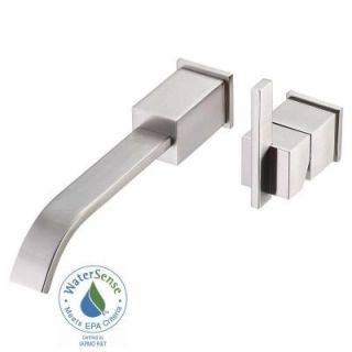 Danze Sirius Single Handle Wall Mount Lavatory Faucet Trim Only in Brushed Nickel D216044BNT