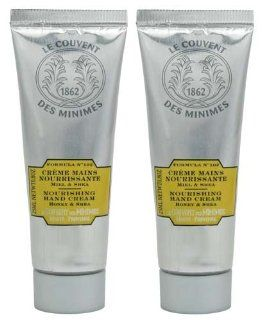 Le Couvent Des Minimes Formula No. 102 Honey and Shea Repairing Hand Cream Travel Size   Set of 2   0.8 oz (25 ml) each Health & Personal Care