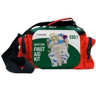 Lifeline 135 Piece ANSI Outfitter Emergency First Aid Kit Duffel Bag 4037