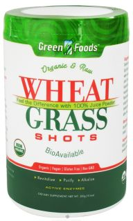 Green Foods   Wheat Grass Shots Organic and Raw   10.6 oz.