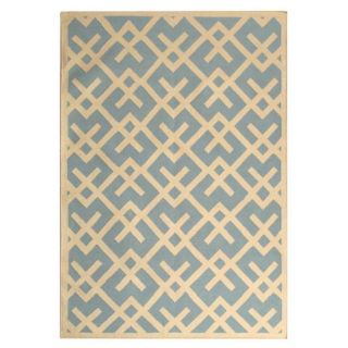 Safavieh Hand woven Moroccan Dhurrie Light Blue/ Ivory Wool Rug (8 X 10)