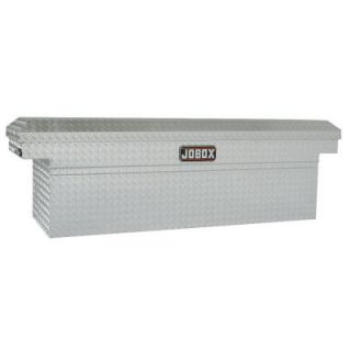 Jobox 72 in. Aluminum Single Lid Deep Full Size Crossover Tool Box in Clear Coat JAC1387980