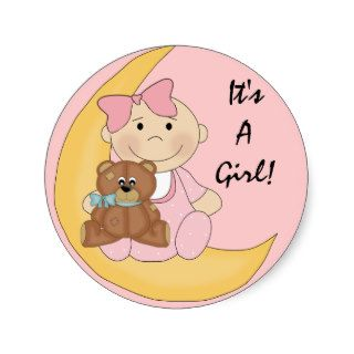 It's A Girl   Cute Baby Cartoon Stickers