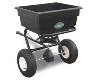 Spyker Commercial Grade 125 Pound Capacity Tow Behind Broadcast Spreader With Poly Hopper And Pneumatic Tires 125 (Discontinued by Manufacturer)  Lawn And Garden Towable Tools  Patio, Lawn & Garden