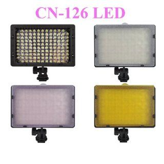 CN 126 Dimmable 126 LED Ultra High Power Panel Digital Camera / Camcorder Video Light, LED Light for Canon, Nikon, Pentax, Panasonic, sony, Samsung and Olympus Digital SLR Cameras  On Camera Video Lights  Camera & Photo