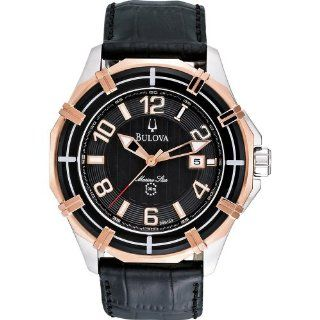 Bulova 98B154 Mens Dress Black Watch Watches