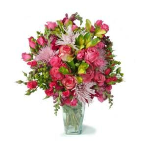 The Ultimate Bouquet Easter Bouquet   Gorgeous Fresh Cut Flower Bouquet in a Clear Vase Overnight Shipping Included DISCONTINUED EAB313