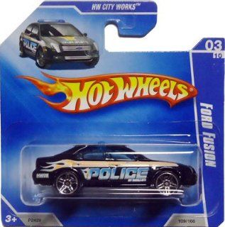 2009 Hot Wheels FORD FUSION [Black Police Car] #109/166, HW City Works #3/10 (Short Card) RARE Toys & Games