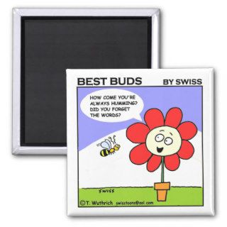 Cute Funny Sweet Musical Bee Cartoon Fridge Refrigerator Magnet