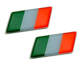 2 x (Pair/Set of 2) ITALIAN ITALY FLAG Emblem Badge Nameplate Decal Rare for Alfa Romeo 4C Giulietta Quadrifoglio Verde Mito 159 Sportwagon 8C Spider 147 159 Brera Crosswagon Q4 33 145 146 155 156 166 6 6C 1900 2000 2600 GT GTV Sprint Alfetta Alfasud Montr
