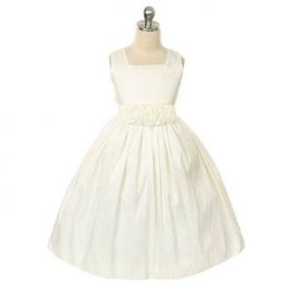 Sweet Kids Girls Ivory Taffeta Easter Spring Flower Girl Dress 6M 12 Sweet Kids Baby