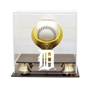 Detroit Tigers MLB Single Baseball Gold Ring Display   CAS MLB 205 EL DET  Sports Related Display Cases  Sports & Outdoors