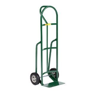 "Little Giant T 182 8S Steel Industrial Strength Hand Truck with Loop Handle, 8"" Solid Rubber Tire Wheel, 800 lbs Capacity, 49"" Height"