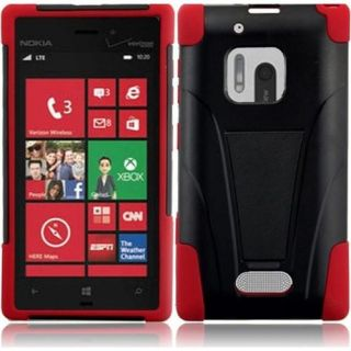 INSTEN For Nokia Lumia 928 T Stand Case Black/Red Accessories