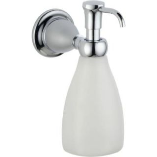 Delta Lockwood Wall Mount Brass and Plastic Soap Dispenser in Chrome DISCONTINUED 79055