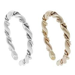 Tressa Goldfill Sterling Silver Two piece Toe Ring Set Tressa Toe Rings
