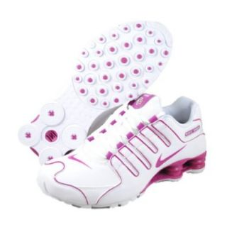 Womens Nike Shox NZ Running Shoes White / Rave Pink 314561 196 Size 10.5 Sports & Outdoors