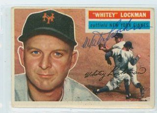 Whitey Lockman AUTO d.09 1956 Topps #205 Giants TOUGH SERIES   JSA Pre Cert Bulk Lot Sports Collectibles