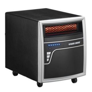 BLACK & DECKER 1000 Watt Electric Infrared Quartz Heater   Metal Black 7BDQ1000