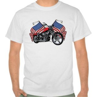 American Flags Motorcycle Value Shirt for Men