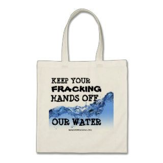 Concerned Citizens Against Fracking Canvas Bags