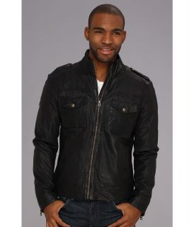 Lucky Brand Scrambler Moto Jacket Mens Coat (Black)