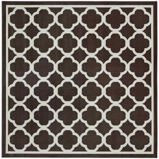 Mohawk Home Parsonage Indoor/Outdoor Square Rug, Brown
