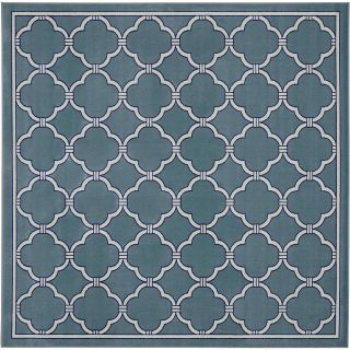 Mohawk Home Parsonage Indoor/Outdoor Square Rug, Winter Mist