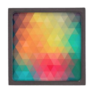 Awesome cool trendy colourful triangles pattern premium gift boxes