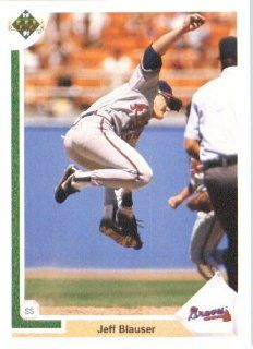 1991 Upper Deck # 382 Jeff Blauser Atlanta Braves   MLB Baseball Trading Card Sports Collectibles