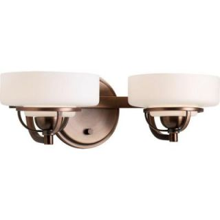Progress Lighting Torque Collection 2 Light Copper Bronze Bath Light P2720 124WB