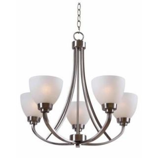 Hampton Bay Hastings 5 Light Brushed Steel Chandelier HDP12055