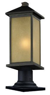 Z Lite 548PHBR 533PM ORB Vienna Outdoor Post Light with Oil Rubbed Bronze Finish and Glass Material