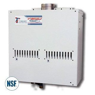 Takagi ASME Heavy Duty Commercial Natural Gas Tankless Water Heater 380, 000 BTUs T M50 ASME NG