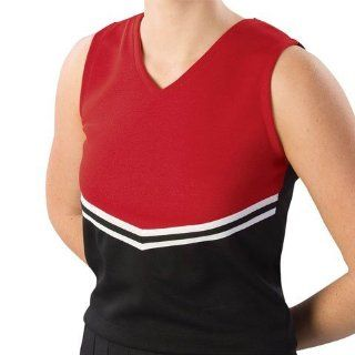 Pizzazz Performance Wear UT40  BLKRED YL UT40 Youth V Stripe Uniform Shell   Black with Red   Youth Large Health & Personal Care