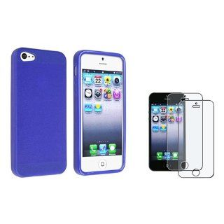 eForCity Blue Skin Veins TPU rubber Case with FREE 2x Anti Glare LCD Cover compatible with the NEW Apple� iPhone� 5 Cell Phones & Accessories