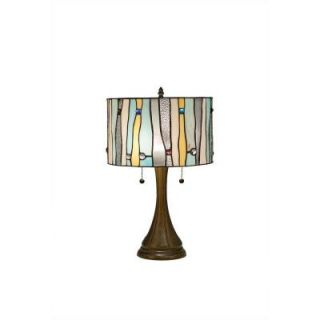 Serena Ditalia 22 in. Tiffany Contemporary Blue Bronze Table Lamp TF7030TL