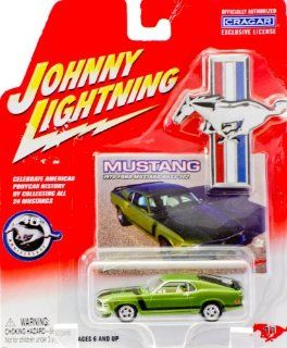 2004   Playing Mantis / Johnny Lightning   #11   1970 Ford Mustang Boss 302   Green   40th Anniversary   w/ Collectible Photo Card   Cragar Rims   Out of Production   New   Mint   Collectible Toys & Games