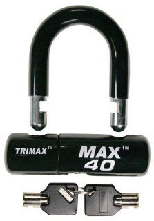 TRIMAX MULTI PURPOSE DISC/CABLE LOCK/U LOCK   BLACK, Manufacturer TRIMAX, Manufacturer Part Number MAX40BK AD, Stock Photo   Actual parts may vary. Automotive