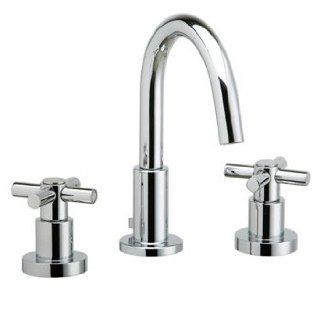 "Phylrich D135004 004 Satin Brass Bathroom Faucets 8"" Widespread Faucet With High Arc Spout W/Tubular Cross Handles   Touch On Bathroom Sink Faucets"