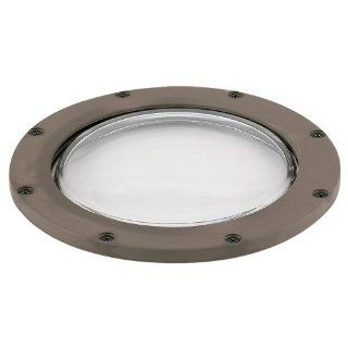 Sea Gull Lighting 9232 40 Ambiance Landscape Composite Well Light with Clear Tempered Glass, Chestnut   Landscape In Ground Lights