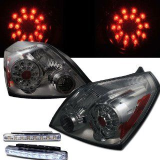 2008 2010 NISSAN ALTIMA LED TAIL LIGHTS REAR BRAKE LAMPS COUPE SMOKE+DRL LED FOG Automotive