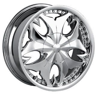 17x7 Mazzi Fatal (345) (Chrome) Wheels/Rims 5x110/115 (345C 7711) Automotive