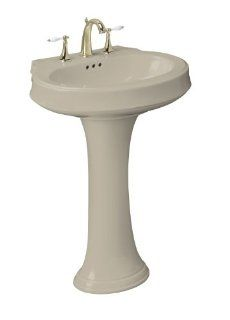 Kohler K 2326 1 G9 Leighton Pedestal Lavatory with Single Hole Faucet Drilling, Sandbar   Pedestal Sinks